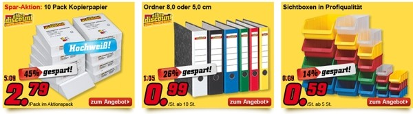 Office Discount Artikel