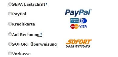 ReifenDirekt Zahlungsmethoden