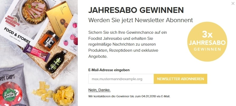 Foodist Newsletter