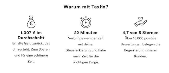 Taxfix Vorteile
